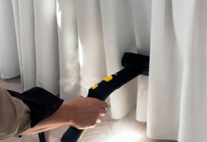 Curtains, Drapery Steam cleaning
